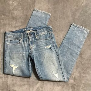 🦅 American Eagle Sparkly Stretch Skinny Jeans!